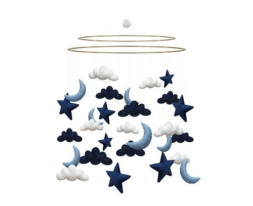 "Mobile ""cloud moon stars"" aus Filz"